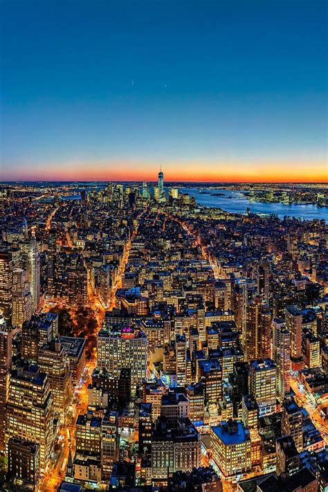 New York City at sunset (by Fabian Schneider) | City, New