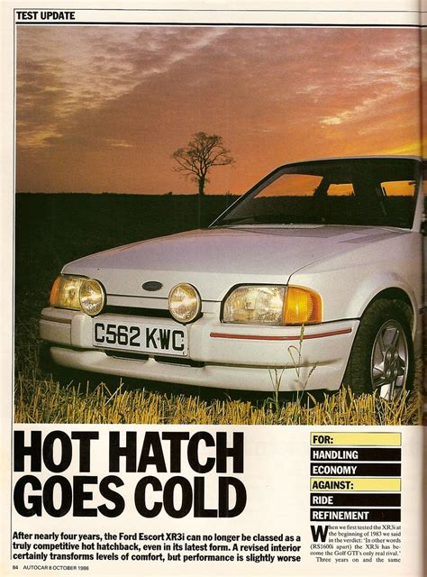 Ford Escort XR3i Road Test 1986 | Flickr