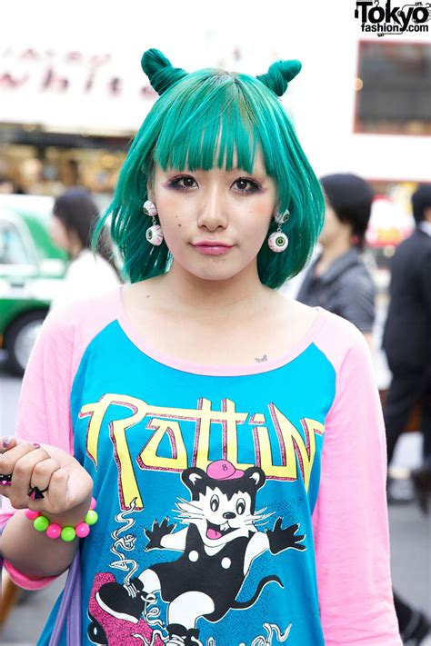 Ling Tosite Sigure Fan w/ Green Odango Hair, Eyeball