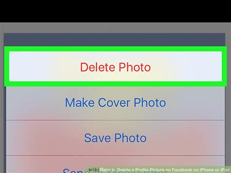 How to Delete a Profile Picture on Facebook on iPhone or iPad