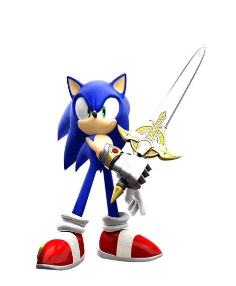 Sonic And The Black Knight (clean render) by eggmanteen on