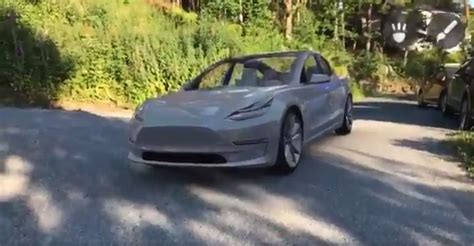 Tesla Model 3 Appears on Your Driveway Thanks to Some