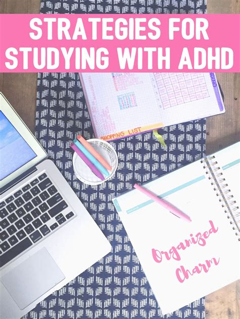 Organized Charm: Strategies for Studying with ADHD