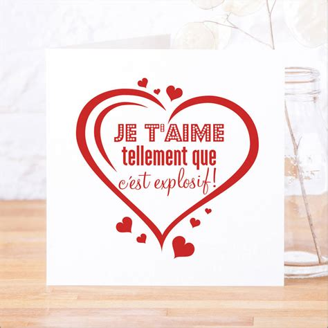 french 'je t'aime tellement' card by faith hope & love