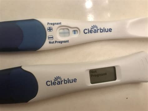 Clear blue negative & positive test results??? - BabyCenter