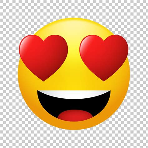 Smiling Face with Heart Eyes Emoji PNG Image Free Download
