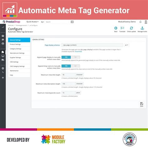Automatic Meta Tag Generator for better SEO - PrestaShop