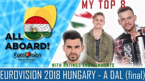 Eurovision 2018 Hungary - A DAL (final) MY TOP 8