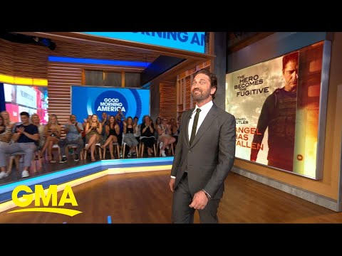 Gerard Butler wants his action films to inspire courage in