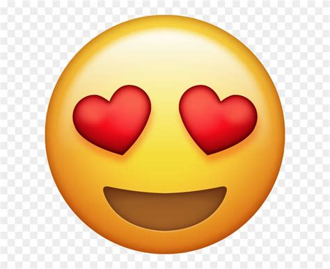 Download Heart Eyes Emoji [free Iphone Emoji Images - Love