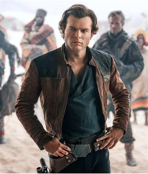 New Brown Suede A Star Wars Story Young Han Solo Jacket
