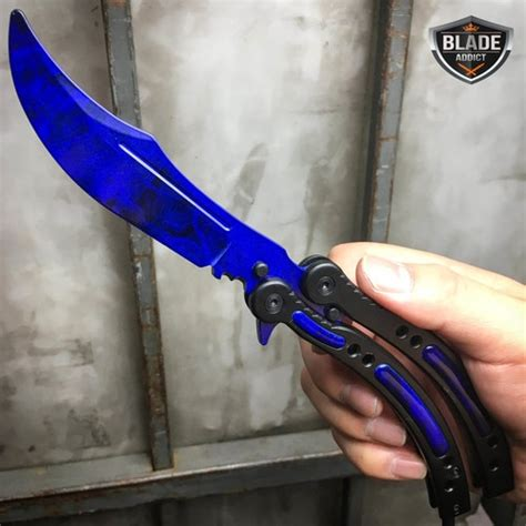 CSGO BLUE SAPPHIRE Practice Knife Balisong Butterfly