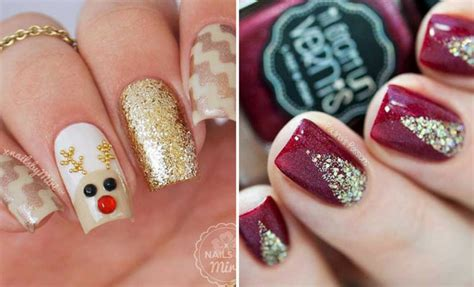 69 Easy Winter and Christmas Nail Ideas | StayGlam