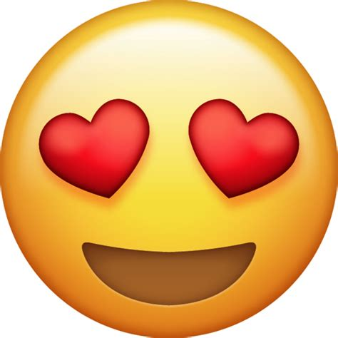 Heart Eyes Emoji [Download iPhone Emojis] | Emoji Island