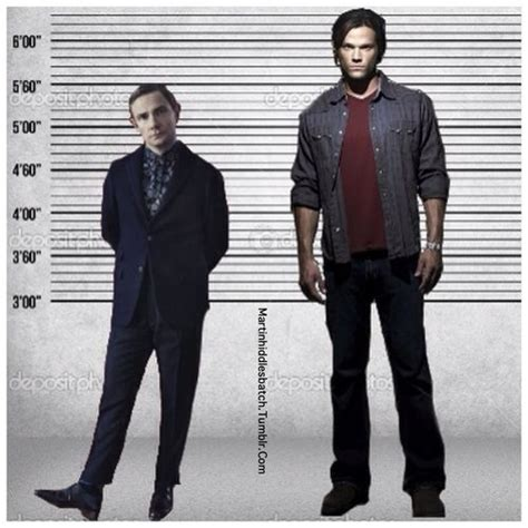 Height differences between Martin freeman and Jared