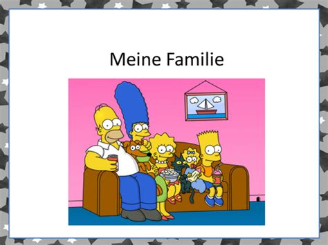 Introduce Meine Familie with the Simpsons and an authentic