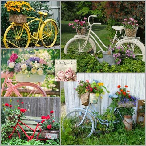 Vintage Bicycle Planters: I would love one of these