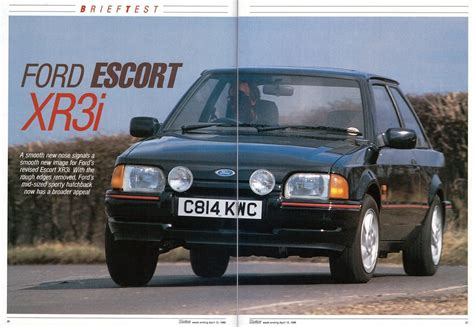 Ford Escort XR3i Mk4 Road Test 1986 | Flickr