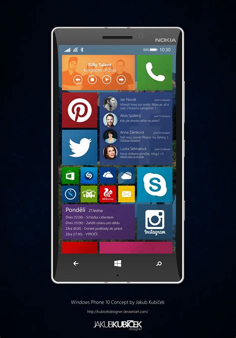 This Windows Phone 10 Concept Has Interactive Live Tiles