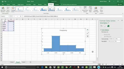 Histogram in Excel 2016 - YouTube